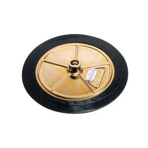 Liquidynamics 420 Lb Drum Follower Plate - I.D. 21.3 in. to 22.8 in. - 11195T 1.26 in. Dia. Tube
