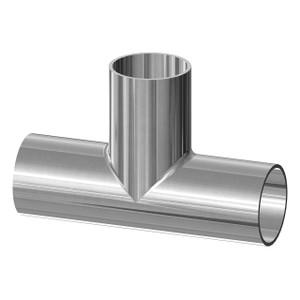 Dixon Sanitary High Purity BioPharm Tee - 1 1/2 in. - 4.750 in. - 2.375 in. - SF4-Ra15