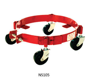 National Spencer 5 to 6 1/2 Gallon Drum Dolly with Phenolic Casters