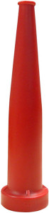 Dixon 1 1/2 in NH (NST) Red Polycarbonate Plain Hose Nozzles