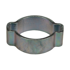 Dixon 19/32 in. Zinc Plated Steel Pinch-On Double Ear Clamp - 100 QTY