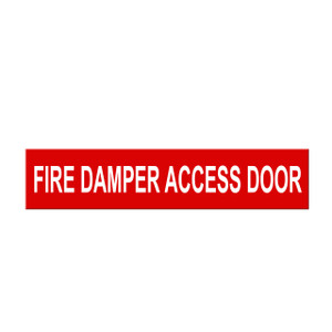 "Marking Services Self-Adhesive Pipe Markers - Legend ""Fire Damper Access Door"""