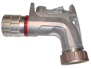 Philly 200018 Nozzle - 1 1/4 in. Female Swivel w/ Sight Glass Inlet