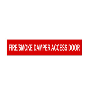 "Marking Services Self-Adhesive Pipe Markers - Legend ""Fire/Smoke Damper Access Door"""
