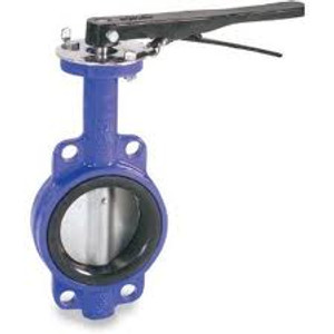 Smith Cooper 0160 Series 4 in. Cast Iron Lever Operated Butterfly Valve w/ Buna-N Seals, Nickel Plated Iron Disc, Wafer Style