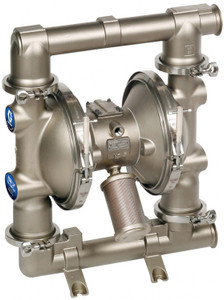 Graco 2150 FDA-Compliant 2 1/2 in. Double Diaphragm Sanitary Pumps w/ PTFE O-Rings, Weighted Neoprene Balls, Santoprene Dia.