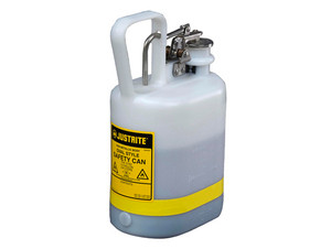 Justrite Nonmetallic Type I Cans for Flammables - Oval Safety Can - 1 Gallon - White