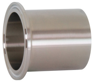 Dixon Sanitary TL14AM7 Series High Purity BioPharm Automatic Weld Ferrules - 1 in. - PL Finish- SF1