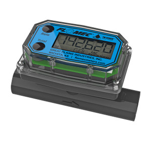 GPI TM Series 3/4 in. Spigot Electronic Water Flow Meter w/ LCD Display - Gallons and Liters