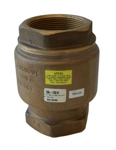 Morrison Bros. 158A Series 1 in. NPT Brass Vertical Check and Back Pressure Valve