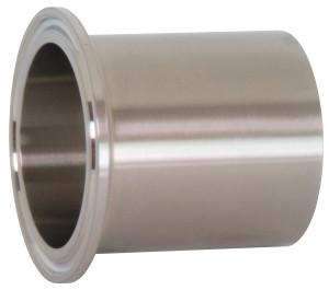 Dixon Sanitary TL14AM7 Series High Purity BioPharm Auto Weld Ferrules - 1 1/2 in. - PM Finish- SF4
