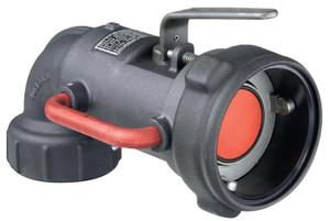 Emco Wheaton 3 in. Aluminum 90º Dry-Break Coupler w/ Nitrile Rubber Seals