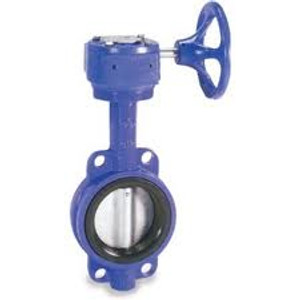 Smith Cooper 0160 Series 10 in. Cast Iron Gear Operated Butterfly Valve w/Nitrile Rubber Seals, Nickle Plated Iron Disc, Wafer Style