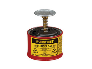 Justrite 10008 Plunger Can - 1 Pint - Red