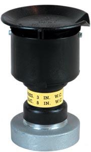 OPW 523V Pressure Vacuum Vent - 3 in. Slip - On - 8 oz/sq inch - 7,000 SCFH - Red