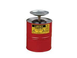 Justrite 10308 Plunger Can - 1 Gallon - Red