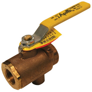 Dixon 1 in. NPT Bronze Ball Valve with NPT Tap for Drains