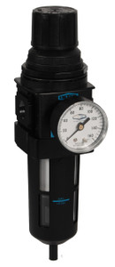 Dixon Wilkerson 1/4 in. B18 Compact Filter/Regulator with Transparent Bowl & Guard - Manual Drain