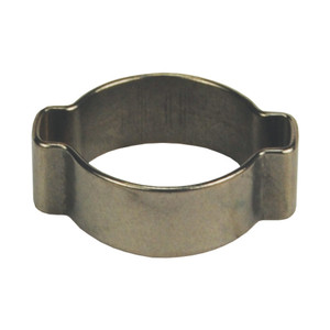 Dixon 1 1/8 in. 304 Stainless Steel Pinch-On Double Ear Clamp - 100 QTY