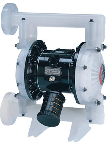 Husky Polypropylene 1050 Air Diaphragm Pump w/ Polypropylene Seats, PTFE Diaphragms and an End Flange