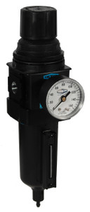 Dixon Wilkerson 3/8 in. B18 Compact Filter/Regulator with Metal Bowl & Sight Glass - Manual Drain