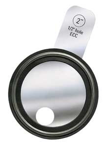 Rubber Fab 2 in. Tri-Clamp® Orifice Plate Gaskets - Tabbed Style Platinum Silicone - 2 in. - Platinum Silicone