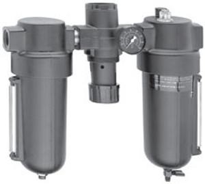 Dixon Series 1 P8A Jumbo Combo Unit with Metal Bowl & Sight Glass - Manual Drain