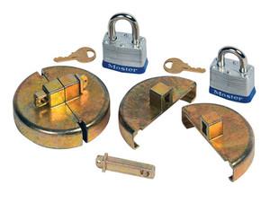 Justrite Drum Locks - Plastic Drum Set With 2 Padlocks - Plastic drum set with 2 padlocks - 2 interchangeable lock bars