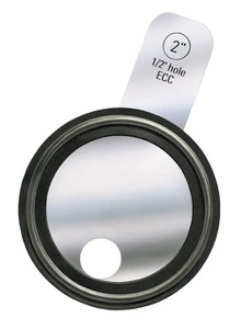 Rubber Fab 4 in. Tri-Clamp® Orifice Plate Gaskets - Tabbed Style PTFE - 4 in. - PTFE