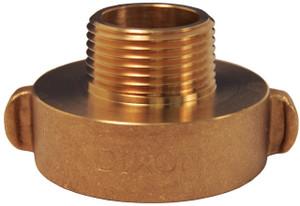 Dixon 2 1/2 in. (NH)NST x 1 in. NPSH Brass Rocker Lug Hydrant Adapters