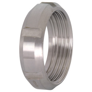 Dixon Sanitary 13R Series SMS Round Nuts - 4 in. - 101.6