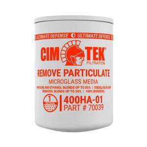 Cim-Tek 400 Series Spin-On Fuel Filter - E85 High Alcohol Content Microglass Filter - 70039 - 1 Micron