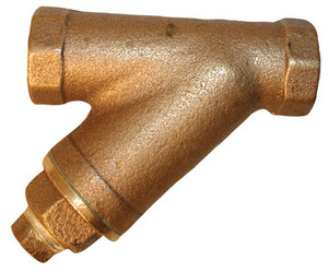 Matco Norca 1 1/4 in. Cast Bronze Y-Strainer w/ Brass Plugs - 20 Mesh