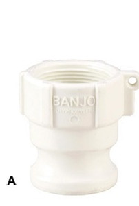 Banjo 3/4 in. FDA Male Adapter x Female NPT - Part A