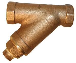 Matco Norca 1 1/2 in. Cast Bronze Y-Strainer w/ Brass Plugs - 20 Mesh