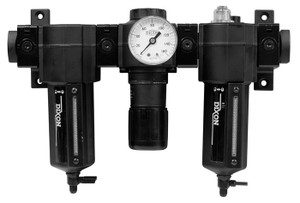 Dixon Norgren Series 1 Standard Combination Unit w/Metal Bowl & Sight Glass 1/2 in. Port Size, Manual Drain 150 SCFM