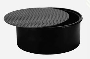 Franklin Fueling Systems 18 in. Steel Manhole and Cover w/ 8 1/2 in. Skirt