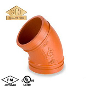 Smith Cooper 5 in. Grooved 45° Elbow - Standard Radius