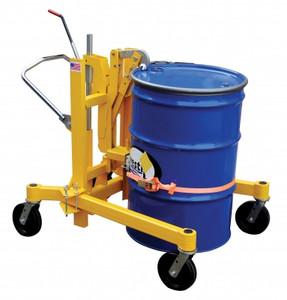 Vestil Manufacturing Hand Ratchet Drum Transporter - 880 lb Capacity