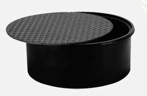 Franklin Fueling Systems 18 in. Steel Manhole and Cover w/ 12 in. Skirt