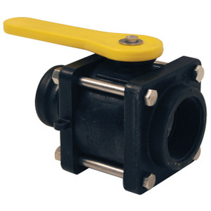 Dixon 2 in. Polypropylene Compact Bolted Ball Valves w/ Female NPT x Male NPT Threading