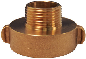 Dixon 2 1/2 in. NH(NST) x 3/4 in. GHT Brass Rocker Lug Hydrant Adapters