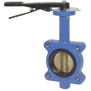 Dixon BFVl Series 4 in. 150lb. Butterfly Valve w/Nitrile Rubber Seals & Aluminum Bronze Disc, Threaded Lug Style