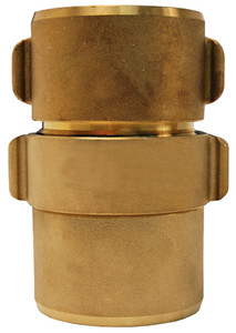 Dixon Powhatan 2 1/2 in. NH (NST) Brass Expansion Ring Rocker Lug Coupling for Double Jacket - 3 in. Bowl Size