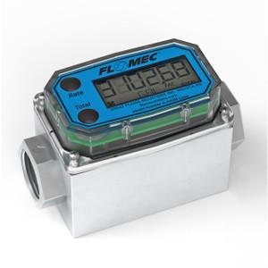 GPI G2 Series 1 1/2 in. NPT Industrial Aluminum Flow Meter - Gallons