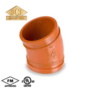 Smith Cooper 5 in. Grooved 22 1/2° Elbow - Standard Radius