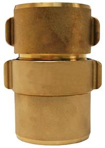 Dixon Powhatan 1 1/2 in. NPSH Brass Expansion Ring Rocker Lug Coupling for Single Jacket - 1 3/4 in. Bowl Size