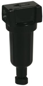 Dixon Wilkerson 1/8 in. F03 Miniature Filter with Metal Bowl - Manual Drain