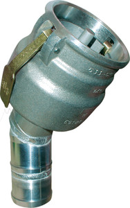 Civacon 4 in. Female Cam w/ Probe, Check Valve & Stainless Paddles x 45° 4 in. Hose Shank