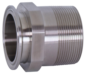 Dixon Sanitary 21MP Series 316L Stainless 3 in. Clamp x Male NPT Adapters - 3 in. - 2 in.